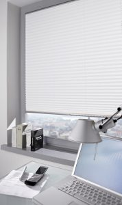 Pleated Blind White