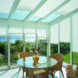 Sloping Pleated Blinds