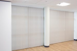 Healthcare vertical blinds